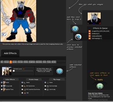 ClickCrop è un editor di immagini online gratuito