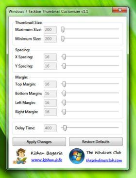 Applicazione per Modificare Taskbar di Windows 7