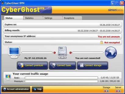 CyberGhost VPN Navigare Anonimi in Internet