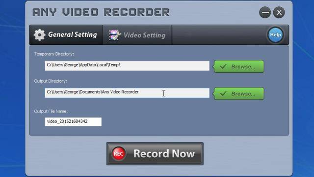 registrare flusso video in diretta