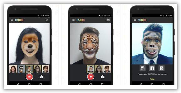 app android per modificare facce