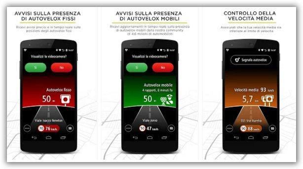 app Android verifica autovelox sulla strada