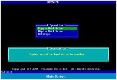 CopyWipe Programma gratuito per Clonare o Cancellare Disco Rigido
