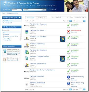 Verificare Compatibilità Windows 7