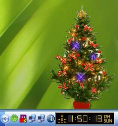 Un albero di Natale sul Desktop Pc