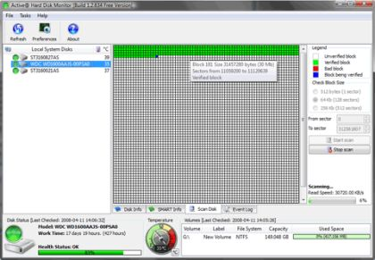 Disk Monitor Hard Disk Freeware