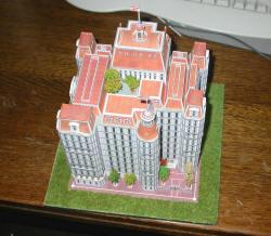 Modellino Carta Edificio