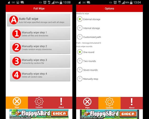 cancellare dati da android migliore app