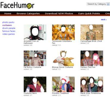 Fare facili fotomontaggi con Face Humor