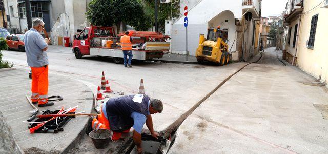 lavori di fibra ottica telecom