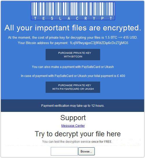 virus che crittografa i file
