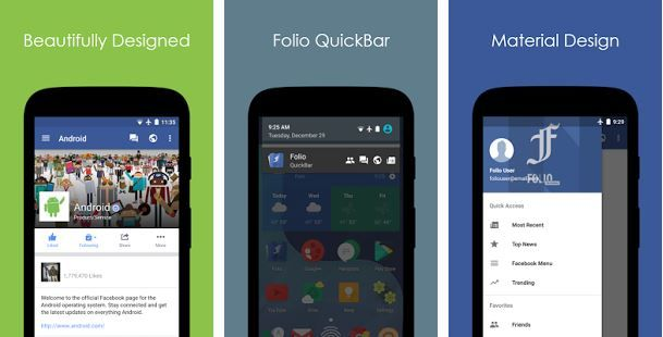 Folio app per Facebook alternativa
