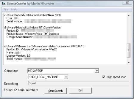 Freeware per raccogliere tutte le chiavi licenze dei programmi installati