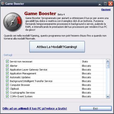 GameBooster Velocizzre il Computer