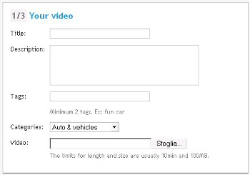 Upload automatico su più siti video sharing