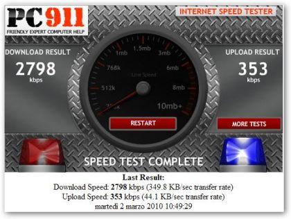 Testare Velocità Connessione Internet