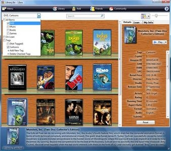 Software Archiviazione libri e film