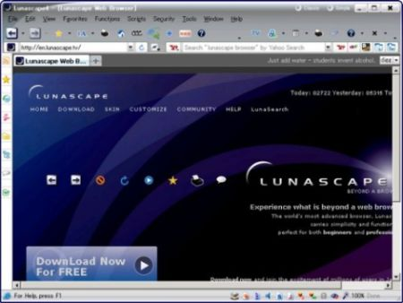 Browser Innovativo e Gratis Lunascape