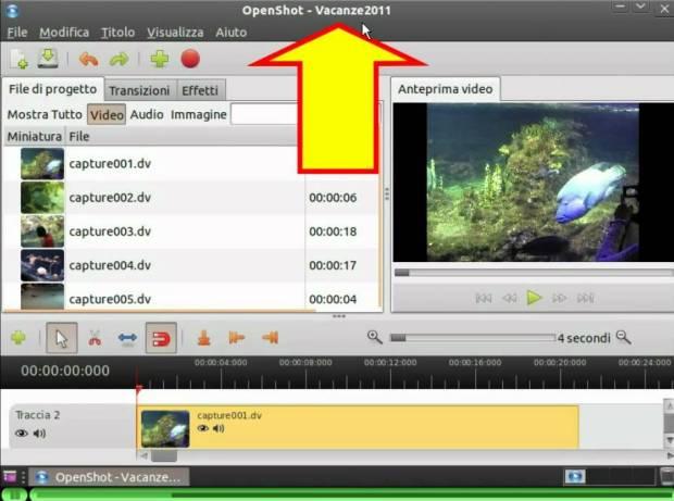 montaggio video programma gratuito in italiano openshot