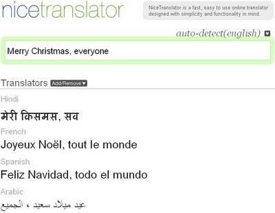 Traduzione istantanea in 36 lingue NiceTranslator