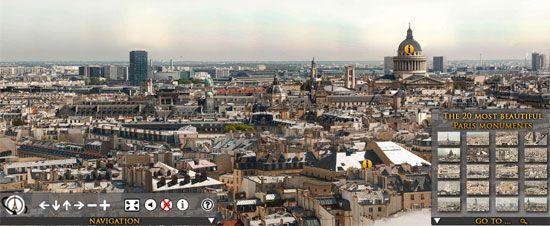 Parigi Città Virtuale Foto Gigantesca