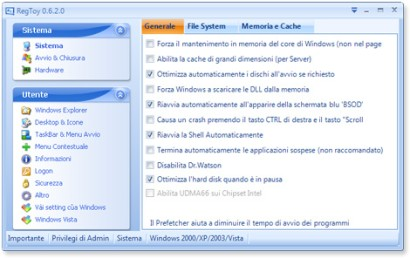 Ottimizzare Registro Windows in Italiano