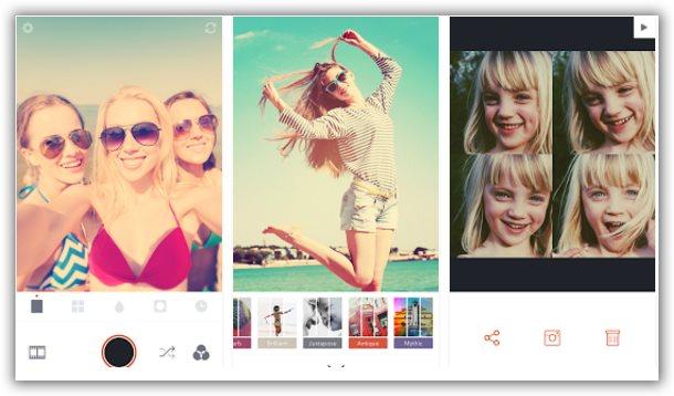 applicazione effetti immagine retrica android iphone