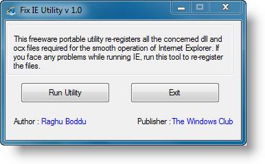 Riparazione Internet Explorer