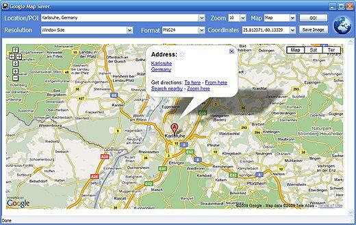 Salvare e stampare mappa di Google