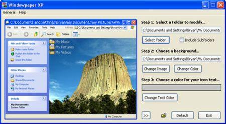 Personalizzare sfondo cartella Windows