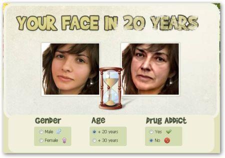 Simulazione Invecchiamento Volto