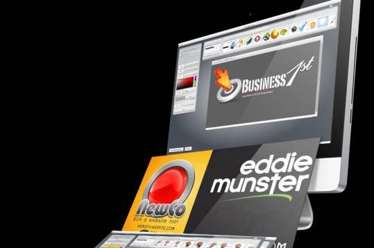 creazione banner loghi grafica al computer