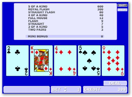 Video Poker Online Gratis