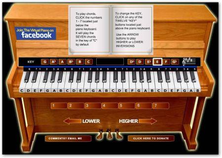 Virtual Piano Suonare il Pianoforte in Internet