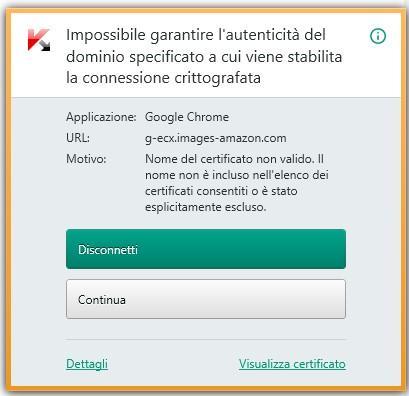 problema certificati kaspersky