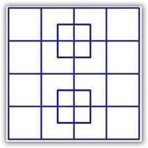 quanti quadrati in questa immagine