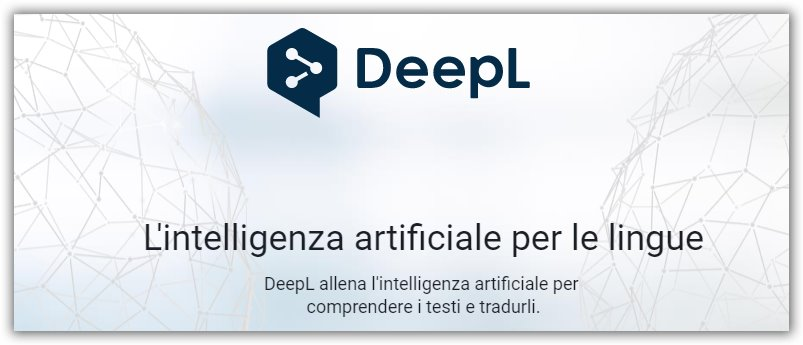 traduttore automatico online DeepL