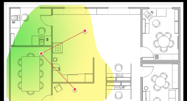 mappa casa wifi
