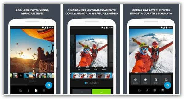 video montaggio con telefonino quik app