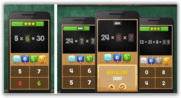 immagine di app con quiz tabelline per bambini