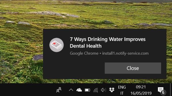 disattivare notifiche in google chrome