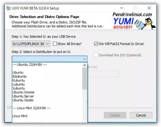 YUMI immagine installazione Linux
