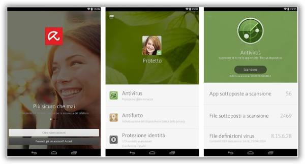 immagine di app Avira antivirus android