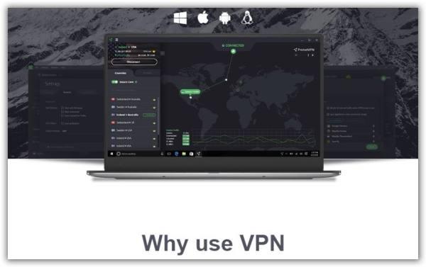 immagine computer connesso ad una vpn