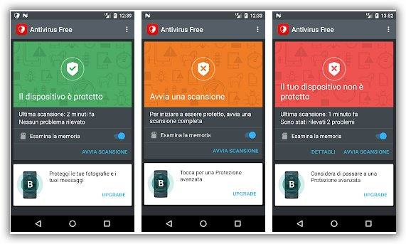 immagine in italiano bitdefender antivirus android